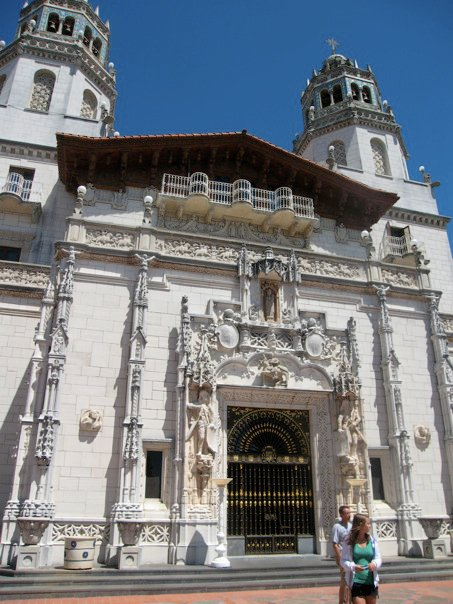 The front entrance of Hearst Castle