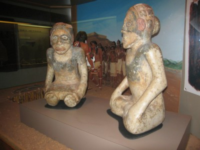 Two Marble Statues that were Found in Mound C