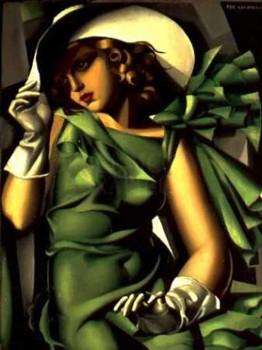 Girl in a Green Dress, by Tamara de Lempicka, circa 1930