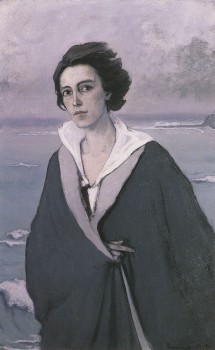 Au Bord de la Mer (The Edge of the Sea), Self-Portrait by Romaine Brooks, 1914
