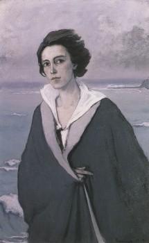 Au Bord de la Mer (The Edge of the Sea), Self-Portrait by Romaine Brooks, 1914