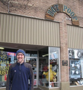 Jon Posing At Hot Poop Records - Ignore His Geeky Expression!