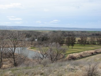 Looking down at the Whitman Mission Site from the Hill