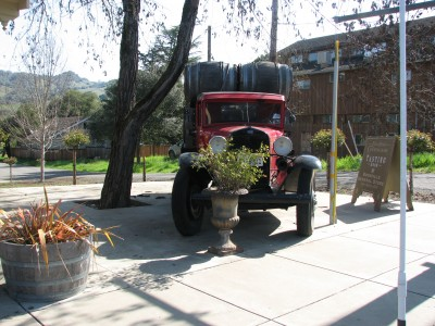 A Historic Wine Delivery Truck in Boonville, California