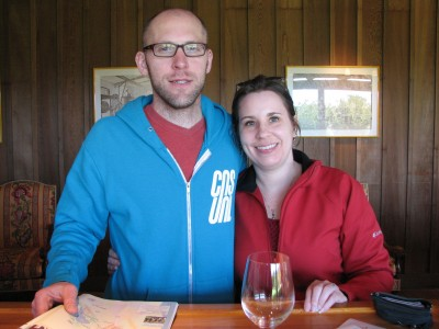 Jon and Me in the Roederer Estate Tasting Room
