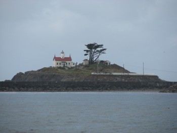 The Battery Point Lighthouse from Across the Bay