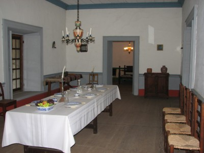 Dining Room - General Vallejo's Living Areas Had Plaster Walls, Paint and Real Glass Windows