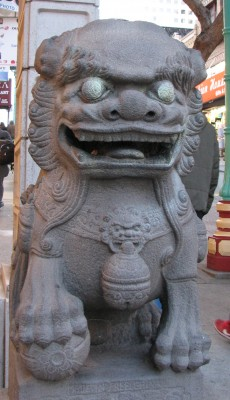 The Lion at the Gate to China Town - San Francisco