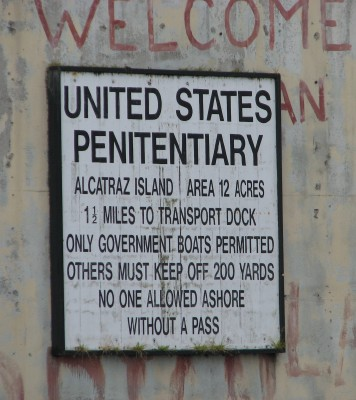 Alcatraz Island Penitentiary Sign