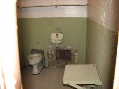 The Cell that John Anglin Dug Out of in 1962.  He Made it Off the Island, But Was Never Heard From Again, and Presumed Drowned.