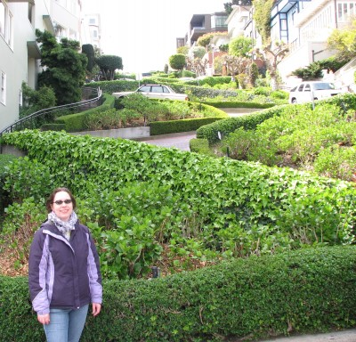Me at Lombard Street - the Crookedest Street