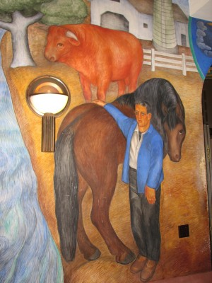 Mural of a Horse at Coit Tower - And a Cow, But It's Awesome Because of the Horse!