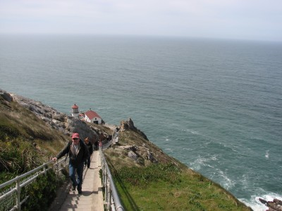 A View of the Point Reyes Lighthouse from the Top of the 308 Steps