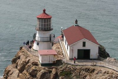 Point Reyes Lighthouse - Built 1870 - 16 Sided Pyramidal Tower with First Order Fresnel Lens