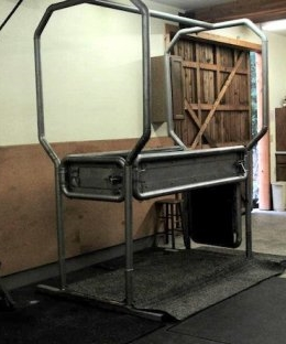 A Veterinary Livestock Stanchion - This One Isn't Set Into the Floor, But You Get the Idea