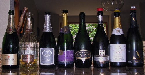 The Sparkling Wine Lineup - The good, the good and the corked...
