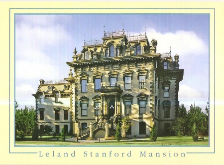 The Leland Stanford Mansion Postcard - Country Setting