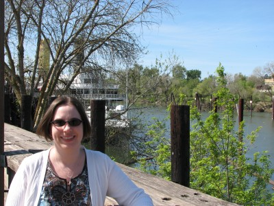 Me at Old Sacramento with the Delta King Riverboat - Now a Hotel