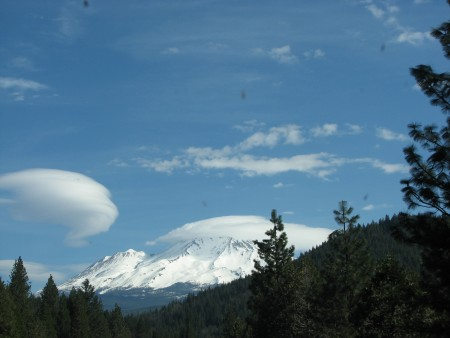 Mount Shasta From the Car Window