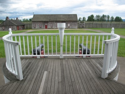 The Porch of the Chief Factor's Residence at Fort Vancouver