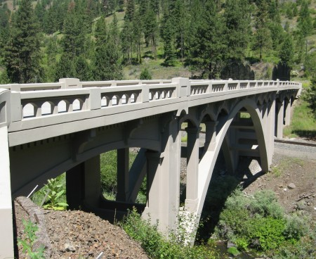 The Upper Perry Arch Bridge - Built 1924 - Arch Bridge with Reinforced Concrete Deck Arch