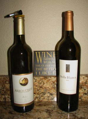 2010 Arbor Crest Malbec and 2011 Stella Blanca by Northstar Winery
