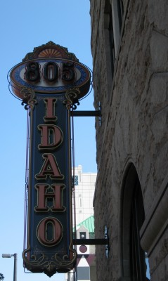 A Beautiful Historic Sign on a Sandstone Building