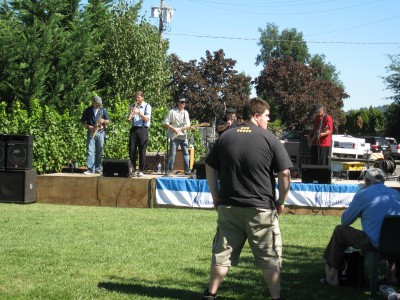 The Band at the Wine Festival