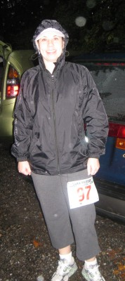 Me Before My Least Favorite Half Marathon - the Second.  I Call it the Bataan Death March.  It Was Raining.  Hard.  October 2011.