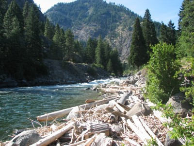 Our Section of the Wenatchee River - Super Cold Water!
