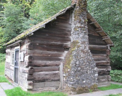The Side of the Beaumont Cabin