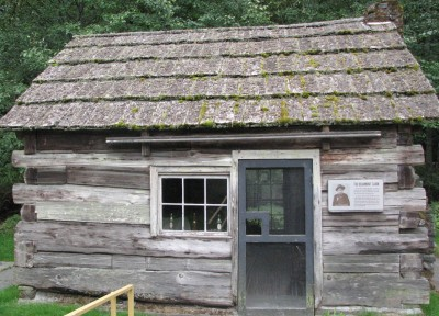 The Front of the Beaumont Cabin - What a Tiny House!