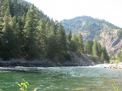 The Wenatchee River, Looking North Towards the Rapids