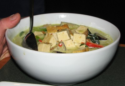 Gang-Keaw-Wan with Tofu - Jon loved it!