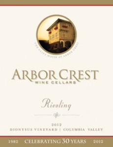 Arbor Crest Wine Cellars 2012 Riesling - Dionysus Vineyard