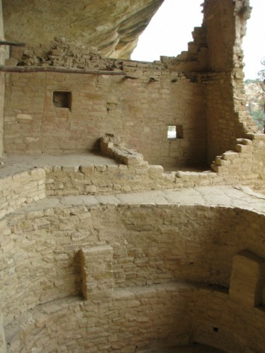Balcony House – with one of the two kivas in the foreground