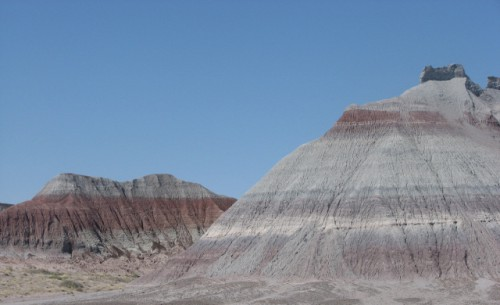 The Tepees area; part of the Blue Mesa Member. It is 220 – 225 Million Years Old