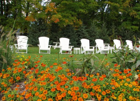 The Brys Estate Outdoor Chairs - they would be heavenly on a cold day.