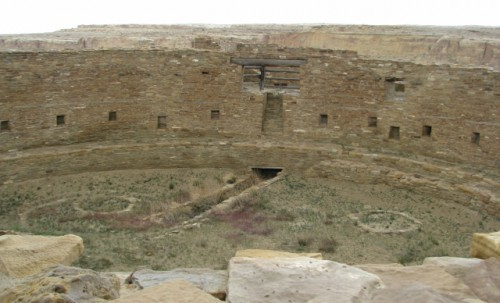 The Kiva at Casa Rinconada – one of the largest in the Southwest Notice the T-Shaped Doorway on the Far Side