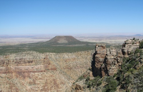 A view of one of the Grand Canyon's Cinder Cones from the Watchtower