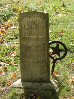 A Civil War Veteran's grave in the new cemetery – with the Grand Army of the Republic star