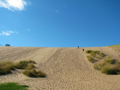 The beginning of The Dune Climb