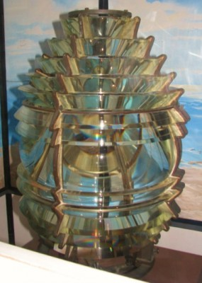A Fifth Order Fresnel Lens on Display