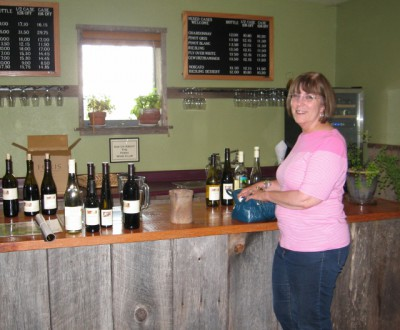 My fabulous mother in law at the Foris Tasting Room