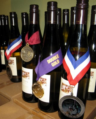 A few of the wine awards Foris has received