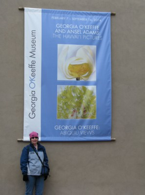 Me Outside of the Georgia O'Keeffe Museum – It Was Still Cold!