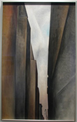 One of O'Keeffe Early Works – a New York Cityscape