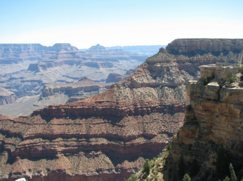 One of my first views of the Grand Canyon, from Mather Point