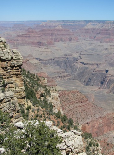 The view of the Grand Canyon from the Rim Trail – photos do not do it justice.