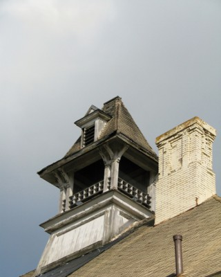 Features on an unrestored building at Grand Traverse Commons